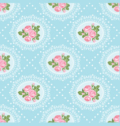 Shabchic rose seamless pattern background vector