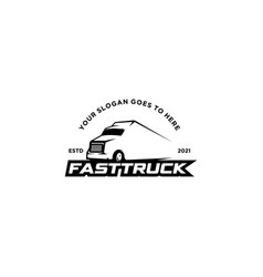 simple fast truck delivery logo vector image