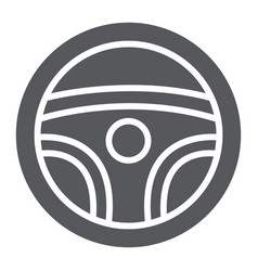 steering wheel glyph icon auto and drive car vector image