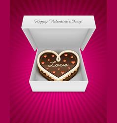sweet chocolate cake vector image