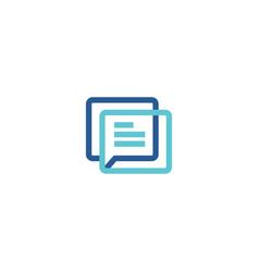 talk bubble communication chat business logo vector image
