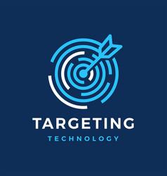 target tech arrow sync logo icon vector image