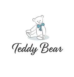 Teddy Bear with bow vector image