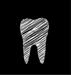 Tooth graphic vector image