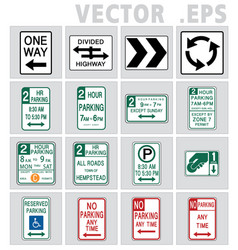 traffic usa sign road vector image