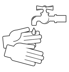 wash your hands icon on white background vector image
