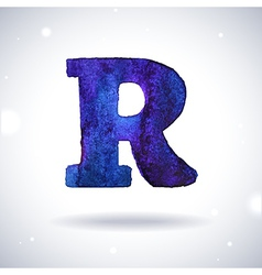 Watercolor letter R vector image