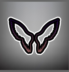wings sign violet gradient vector image