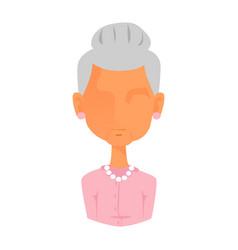 woman portrait face icon web avatar flat style vector image