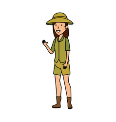 Woman worker of zoo character vector