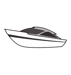 Yacht boat theme design icon vector image