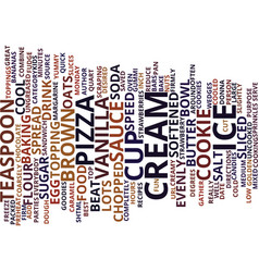 best recipes ice cream cookie pizza text vector image vector image