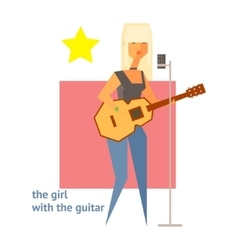 Girl With The Guitar Abstract Figure vector image vector image