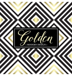 Gold geometric seamless pattern Card template vector image vector image