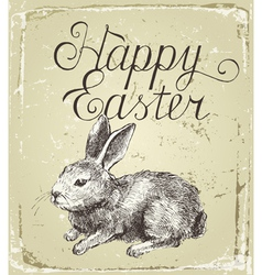 Hand drawn easter card vector image