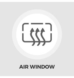 Heated car mirror flat icon vector