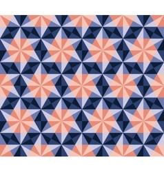Seamless Blue Pink Navy Hexagonal Triangles vector image