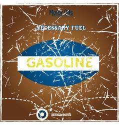 Vintage gasoline poster vector image