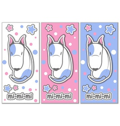 Cute bull terrier with stars vector image vector image