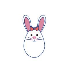 Cute bunny icon vector