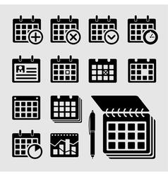 Plate calendar vector image