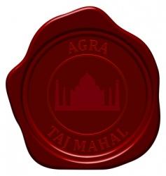 Taj Mahal wax seal vector image vector image