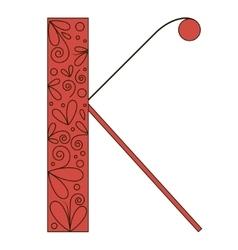 Decorative letter shape Font type K vector image vector image