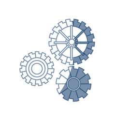 gear work mechanical cooperation image vector image vector image