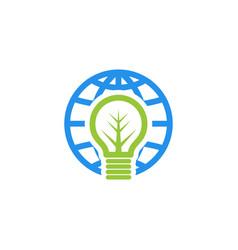 Globe bulb logo vector