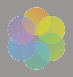 abstract circles gathered in a rainbow of colors vector image
