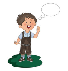 boy with thought bubble vector image