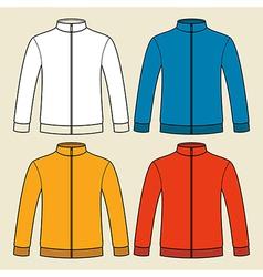 Colorful sweatshirts template vector