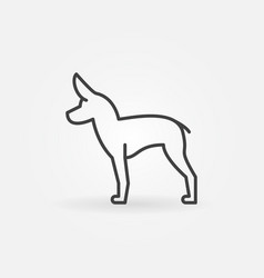 cute little dog icon vector image vector image