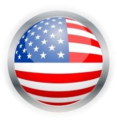 North American USA flag button vector image