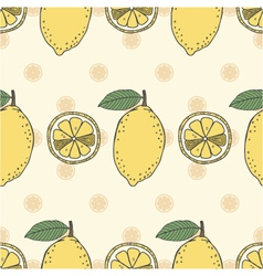 seamless fruit pattern of lemons vector image