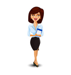 a girl secretary or business woman smiling and vector image
