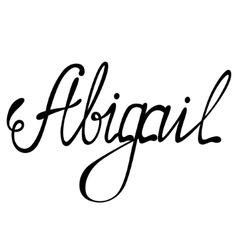 Abigail name lettering vector image