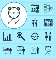 Administration icons set with decision making vector