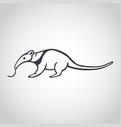 Anteater logo icon design vector