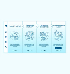 Anti-racism commitment onboarding template vector