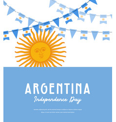 Argentina independence day banner vector