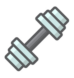 barbell filled outline icon fitness and sport vector image