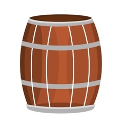 Brown and grey barrel and black stripes vector