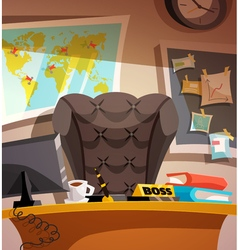 Business workplace office interior vector image
