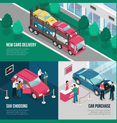 car dealership leasing design concept set vector image