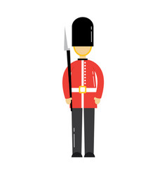 Cartoon soldier of a queen guard royal in vector