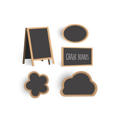 chalkboard set templates vector image
