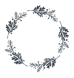 Christmas scandinavian hand drawn floral vector