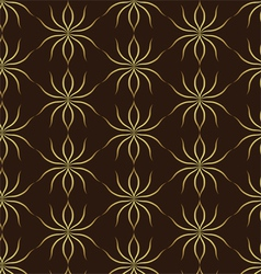 Classic Gold Ant Pattern on Brown Background vector image