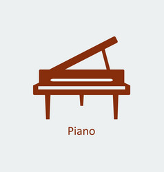 colored piano icon silhouette icon vector image